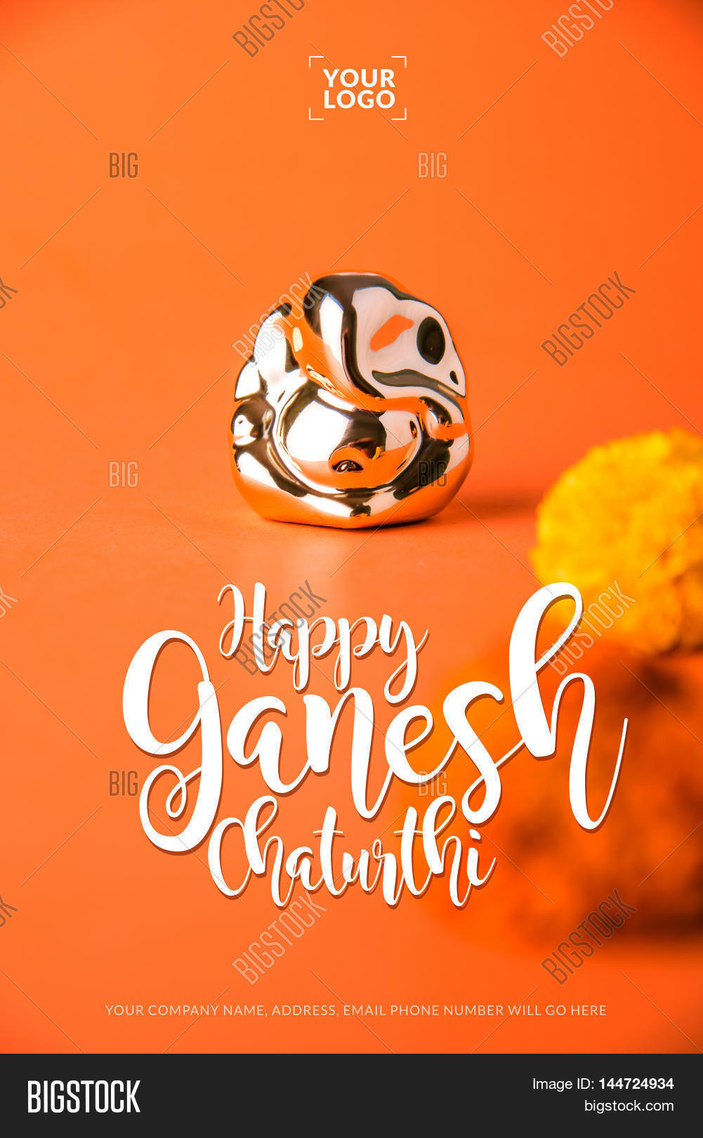 Happy ganesh chaturthi image photo free trial bigstock happy ganesh chaturthi greeting card showing photograph of lord ganesha idol m4hsunfo