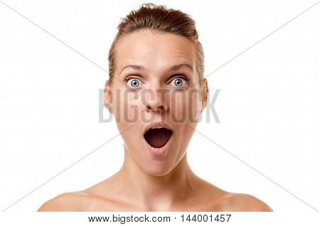 Attractive Woman Gawping In Amazement