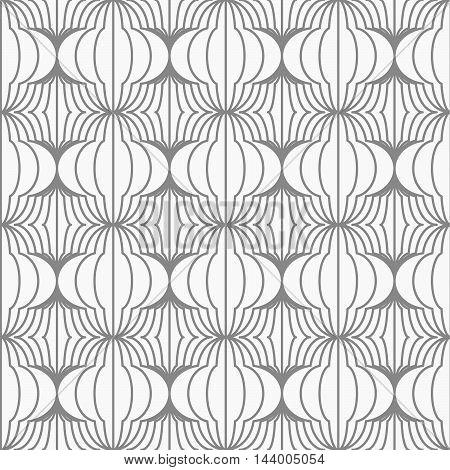 Slim Gray Hatched Uneven Grid
