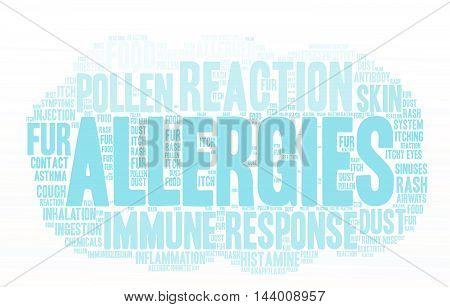 Allergies Word Cloud