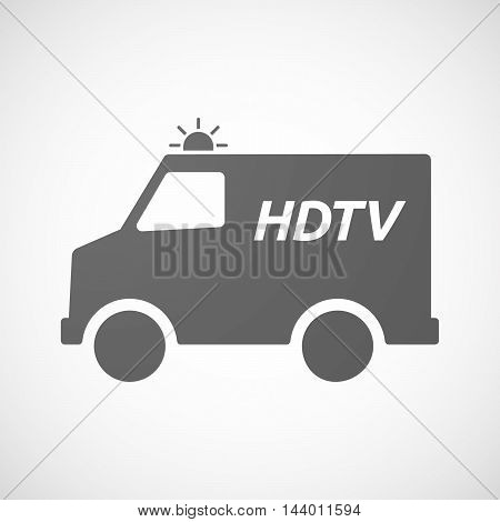 Isolated Ambulance Icon With    The Text Hdtv