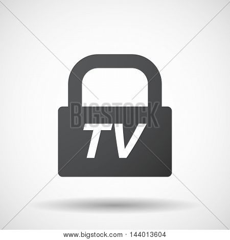 Isolated Closed Lock Pad Icon With    The Text Hdtv