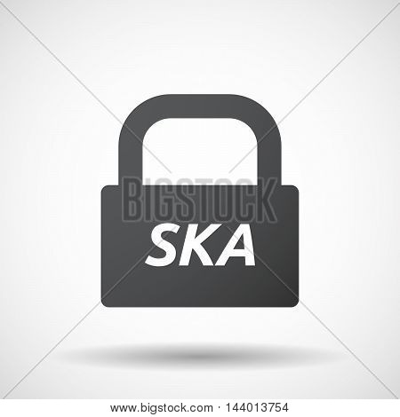 Isolated Closed Lock Pad Icon With    The Text Ska