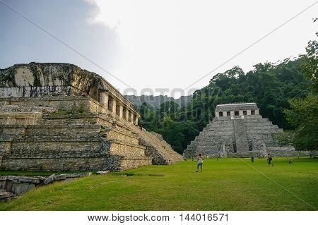 Palenque, Mexico - January 25, 2010: Mayan ruins in Palenque, Chiapas.