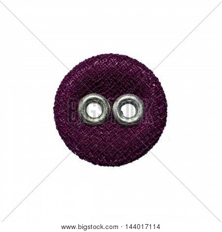 textile circle a fashion objet isolated on white background