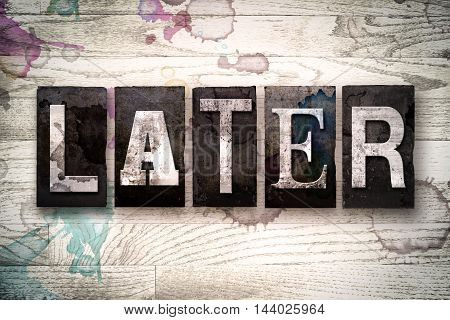 Later Concept Metal Letterpress Type