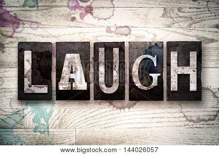 Laugh Concept Metal Letterpress Type