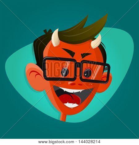 funny cartoon satan or devil clipart