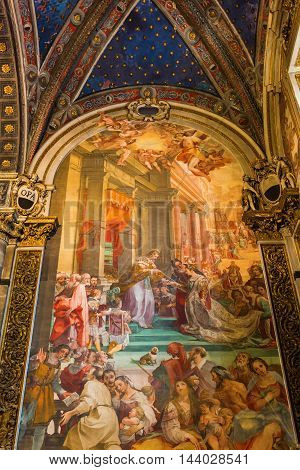 Wall Painting In The Siena Cathedral