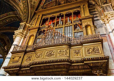 Organ In The Siena Cathedral