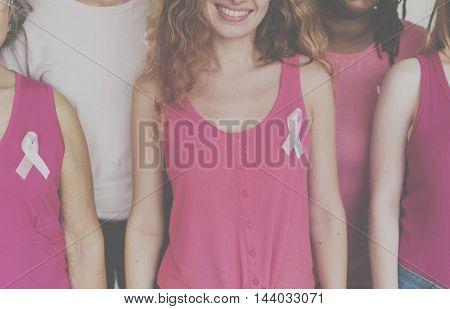 Breast Cancer Campaign Care Female Women Unity Concept