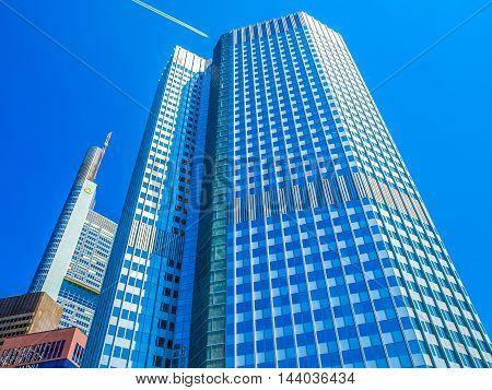 European Central Bank In Frankfurt (hdr)