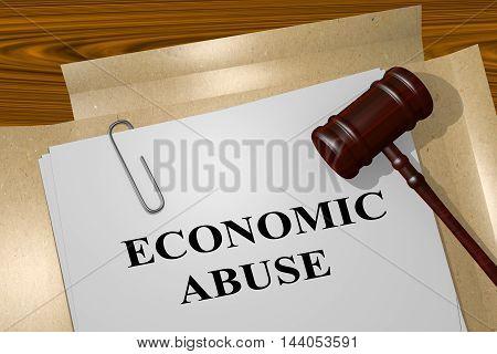 Economic Abuse Concept