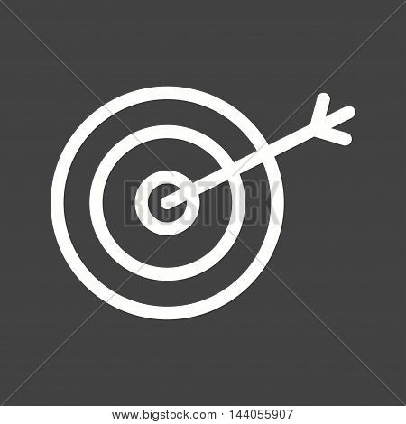 Target, success, accuracy icon vector image. Can also be used for startup. Suitable for web apps, mobile apps and print media.