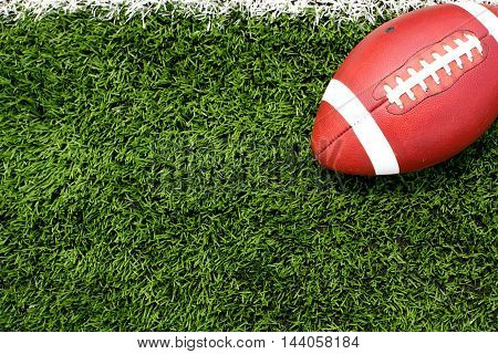 American Football on the Field with room for text