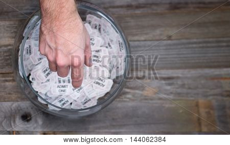 Finding a winner drawing names out of a bowl
