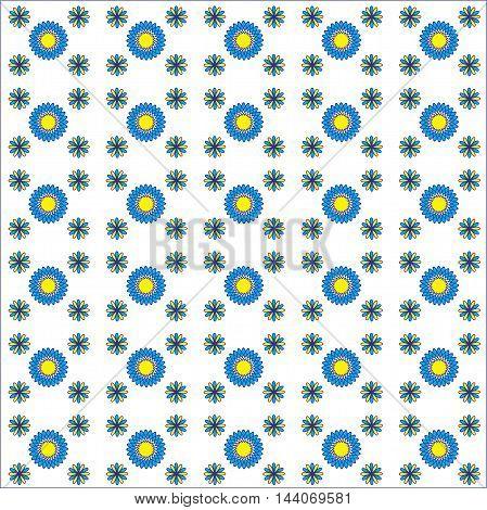 Beautiful seamless flower pattern on white background spirograph