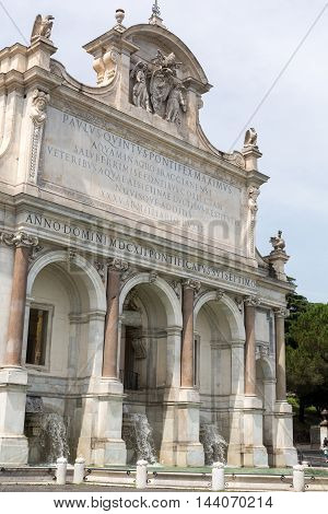 The Fontana dell'Acqua Paola also known as Il Fontanone (