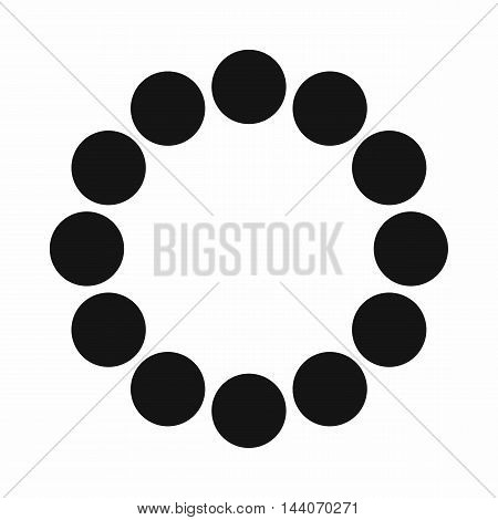 Sign expectations page load icon in simple style isolated on white background. Loading symbol