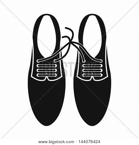 Tied laces on shoes joke icon in simple style isolated on white background. Jest symbol