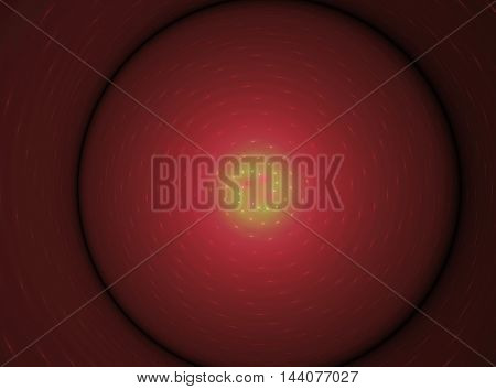 Abstract voluminous red circle fractal beautiful background