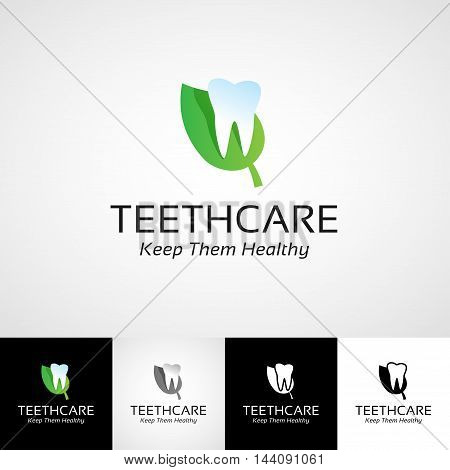 Creative dental logo template. Teethcare icon set. dentist clinic insignia, stomatologist practice illustration, teeth vector design, oral hygienist concept for stationary, tooth branding picture, business card graphic, medical products.