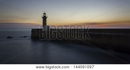 Sunset over the ocean at this nice lighthouse