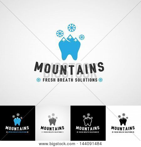 Dental logo template. Teethcare icon set. dentist clinic insignia, medical practice sign, illustration, teeth vector design, oral hygienist concept for stationary, business card graphic, medical products or medicine poster image.