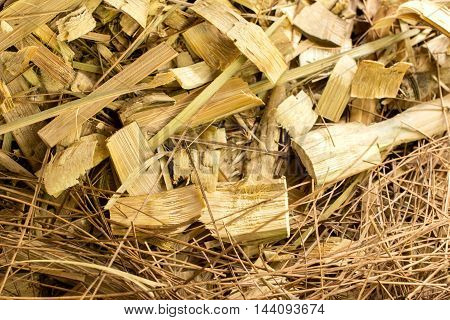 scraps of bamboo wood, texture and background