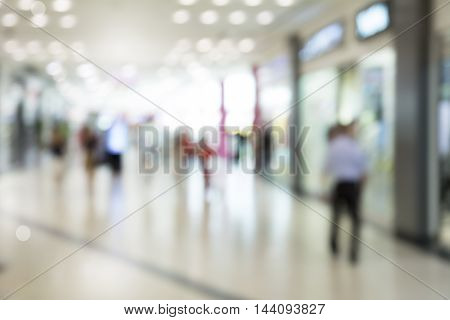 Abstract blur superstore interior or shopping mall interior for background