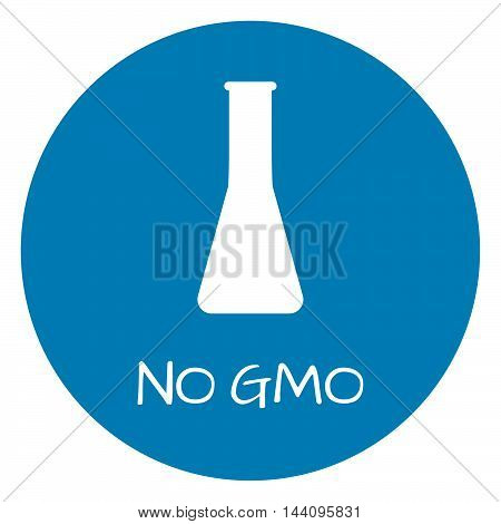 No Gmo Label. Food Intolerance Symbols. Vector Illustration.