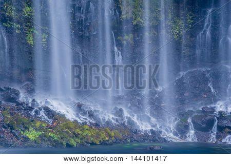 The Shiraito waterfall in Fujinomiya Shizuoka Japan.