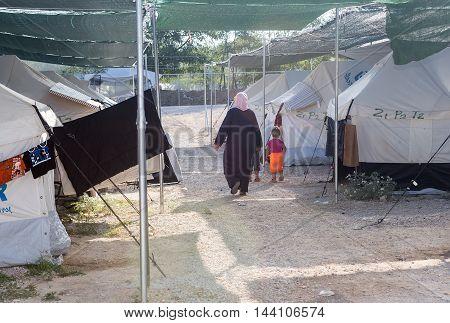 Refugee Camp Of Lagadikia, Greece