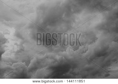 sky and cloud Black and white photo. Beautiful monochrome