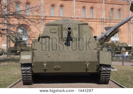 Russia Saint Petersburg Museum of artillery tank KV poster
