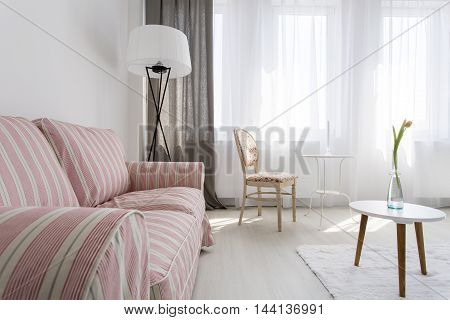 Cozy Living Room In Soft Colors