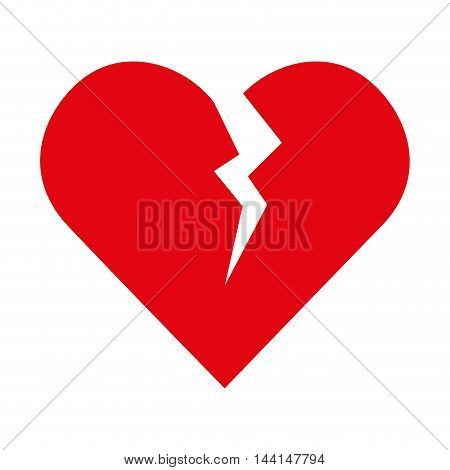 broken heart breakup love over relationship vector illustration