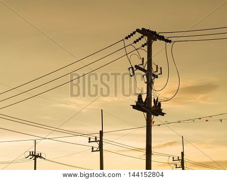 Electric pole : Electrical power poles in The electricity needed to power an electric pole. We use a lot of electricity and power it up. Whether electric poles transformers and electrical cables all. poster
