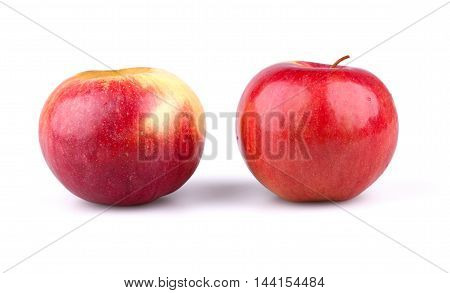 Two fresh apples isolated on white background.