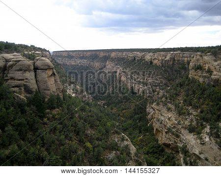 Cliff canyon (horizontal) in Mesa Verde National Park (Colorado, USA)