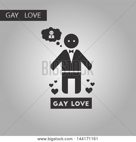 black and white style icon homosexual lovers