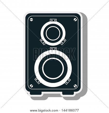 audio speaker bass musical equipment and technology device vector illustration