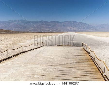 Badwater, Deepest Point In The Usa In Death Valley