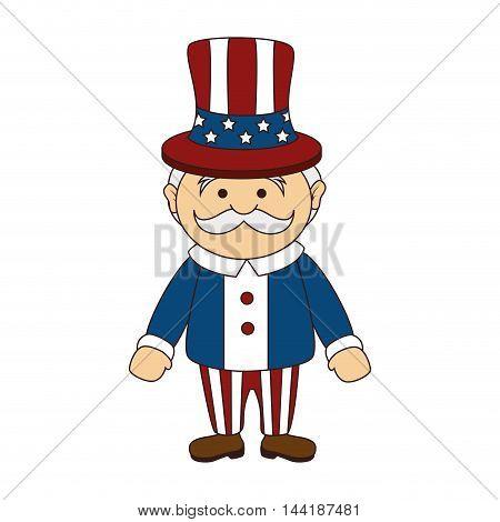 uncle sam icon of america usa man cartoon vector illustration
