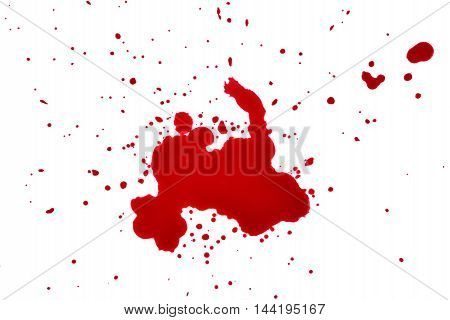 blood drops on a white background red