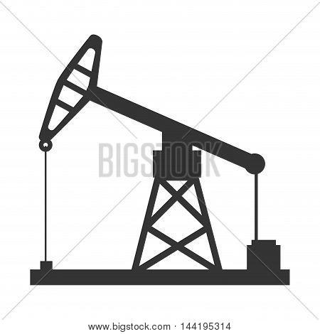 oil rig tower crane drilling industry petrol vector  illustration