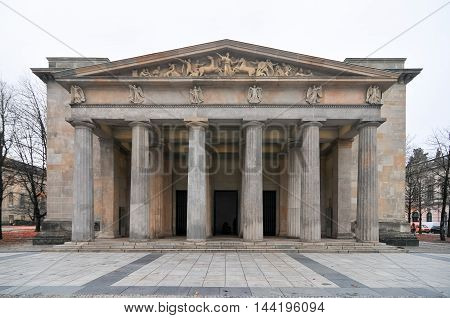 New Guard House (Neue Wache) in Berlin Germany. It is the Central Memorial of the Federal Republic of Germany for the Victims of War and Dictatorship.