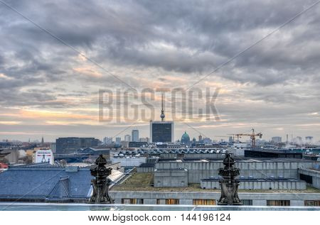 View of the Berlin Skyline from the Reichstag