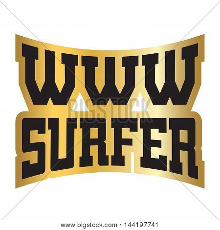 WWW surfer t shirt typography graphics. Grunge mockup with window address. Fashion stylish print sports wear. Template for apparel card poster. Symbol of web browser internet site Vector illustration