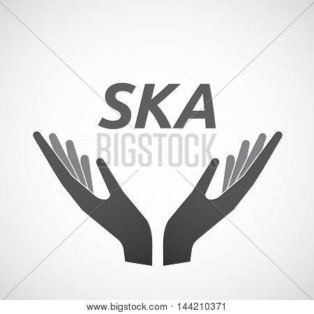 Isolated Hands Offering Icon With    The Text Ska